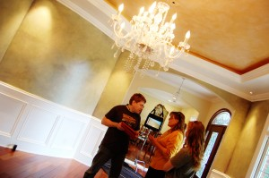 Planning stages with Billy, Mama and Sarah in the room where we shot Scarlet Cord......