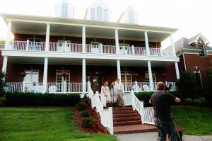 "This is an outdoor view of the mansion we filmed at.....we did some scenes of ""Just a Close Walk"" out on the steps"