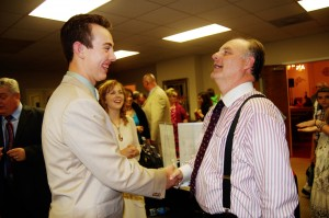Matt meeting Dr. Joe Arthur.....tremendous man of God that preached twice at the meeting.......