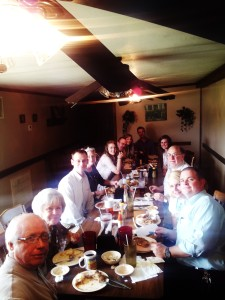 Here is a group of us at lunch at a local restaurant.......